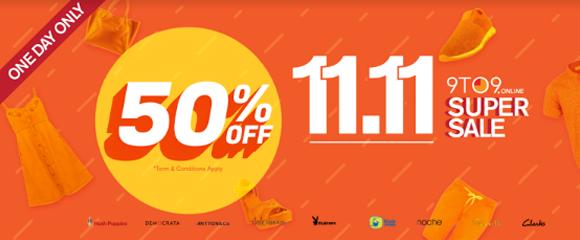 9to9 online promo 11.11 november